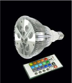 This waterproof RGB PAR 38 outdoor LED bulb with option of many beam angles and Kelvin temperatures with RGB color changing ability.