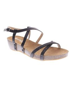 Look what I found on #zulily! Black Monclair Sandal by Patrizia by Spring Step #zulilyfinds
