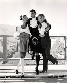 George Lazenby is James Bond and friends in ON HER MAJESTY'S SECRET SERVICE (1969).