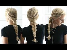 HAIR TUTORIAL | Side Dutch Braids into a Regular Braid - YouTube