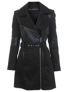 Leather Look Bodice Mac - Miss Selfridge price: £75.00