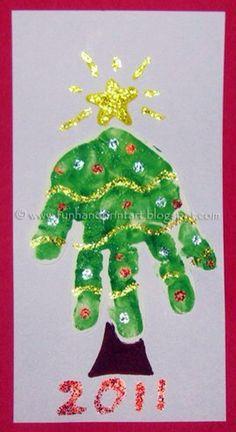 Handprint Christmas Tree Crafts Footprint Art Ideas For 2019 Handprint Christmas Tree, Preschool Christmas, Christmas Crafts For Kids, Christmas Activities, Christmas Projects, Winter Christmas, Holiday Crafts, Christmas Holidays, Fall Crafts