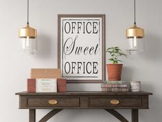 Office Sweet Office Quote Art Print, Motivational Inspirational Poster Sign Printable  Design office kitchen home decor man cave by ShamanAlternative on Etsy