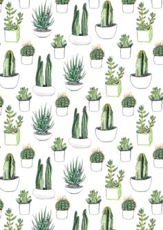 watercolour cacti and succulent Art Print, cactus trend, cactud pattern, green cactus print, cactus decor, cactus pillow, cacti trend, cactus art, urban jungle, cactus poster