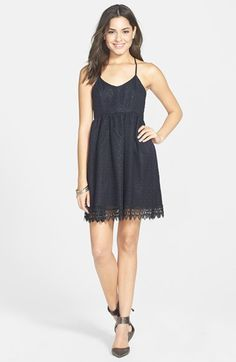 Basil Lola Lace Babydoll Dress (Juniors) available at #Nordstrom