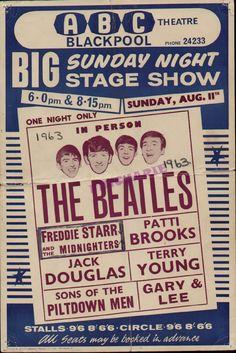 11.8.1963; the beatles; gbr, blackpool, abc theater;