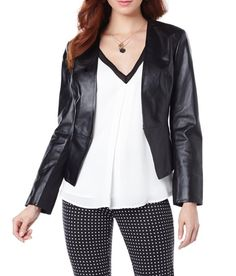 The Hal Rubenstein Leather Jacket is versatile in color and in style! Wear it with a printed pant or floral dress for the perfect spring look.