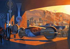 """Tribute to the legendary Art of Syd Mead the """"visual futurist"""" and concept artist known for his designs for science-fiction films such as Blade Runner, Arte Sci Fi, Blade Runner, Wallpaper Science, Hd Wallpaper, Future Car, Future Tech, Sci Fi Kunst, Syd Mead, 70s Sci Fi Art"""