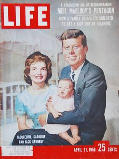 LIFE cover with Senator John F Kennedy wife Jacqueline showing off new child Caroline Kennedy shortly after her birth Jackie Kennedy, Kennedy Wife, Jaqueline Kennedy, Life Magazine, History Magazine, Vintage Magazines, Old Magazines, Vintage Books, Vintage Art