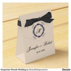 Grapevine Wreath Wedding Party Favor Boxes