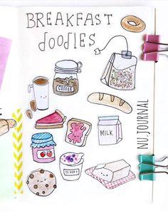 Breakfast doodles by ig@nu.journal. | Bullet journal inspiration