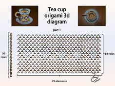 01. 3D Origami Tea Cup Tutorial