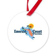 Emerald Coast - Surf Design. Ornament on CafePress.com