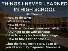 Truth... Although I do remember a class for the computer or typing or English where we did a resume / cover letter