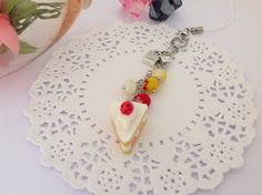 Resin Strawberry Cake Planner Charm Filofax Charm by PrettySang, $10.90