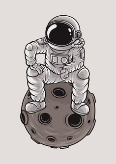 Astronauts are a fun and easy thing to draw. Check out this neat astronaut illustration. Astronaut Drawing, Astronaut Illustration, Astronaut Tattoo, Space Illustration, Space Drawings, Space Artwork, Art Drawings, Space Painting, Space Doodles