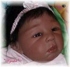 Biracial Reborn Baby girl Kyesha...Brea kit by Lorna Miller-Sands..5lbs & 6oz's..18.5 inches..rooted hair..Created by me..2008...