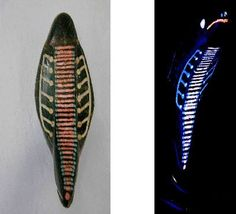 Mysterious artifact, Ecuador*  The cobra never existed in South America, but this one was found in Ecuador. The artifact of the cobra head, contains 33 lines in length. On the left side and right side there are seven points inlaid and maybe these are the chakras. Also this cobra head is shining brightly if you put black light on it.  Read More: http://www.bibliotecapleyades.net/ciencia/esp_ciencia_life48.htm