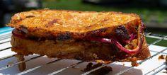 Brisket burnt end sandwich