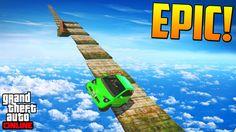 MEGA RAMPA EN LA BASE MILITAR - Gameplay GTA 5 Online Funny Moments (Car...