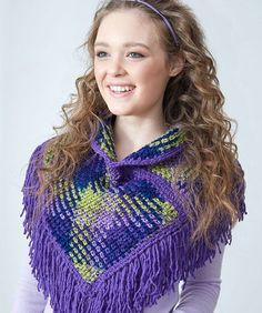 Free crochet pattern: Planned Pooling Argyle Cowl by Marly Bird for Red Heart