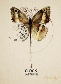 clock butterfly