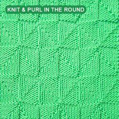 Intermediate Knitting Combining Knit And Purl Stitches : Free Crochet & Knitting Patterns on Pinterest Free Pattern, Tunisian Cr...
