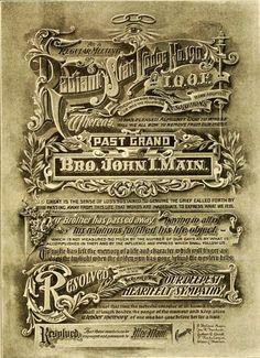 Typography, 1909 Vintage Typography, Typography Letters, Graphic Design Typography, Lettering Design, Vintage Labels, Vintage Ephemera, Vintage Posters, Vintage Type, Vintage Art