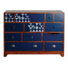 Geo Print range is an eclectic collection of Occasional Lounge furniture Comprising of rustic wood outers with navy blue drawers Bold Geometrics Blue Drawers, Chest Of Drawers, Mango Wood Furniture, Painted Furniture, Lounge Furniture, Furniture Ideas, Hallway Cabinet, Navy Paint, Painted Chest