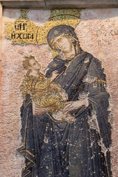 Virgin Hodegetria in the Theotokos Mosaic at Chora Church.The Church of the Holy Saviour in Chora  is considered to be one of the most beautiful surviving examples of a Byzantine church. In the 16th century, during the Ottoman era, the church was converted into a mosque and, finally, it became a museum in 1948. The interior of the building is covered with fine mosaics and frescoes.