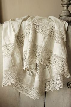 Spiderweb crochet lace: I never get tired of this beautiful ancient pattern!! The vintage garment in the photo looks like a petticoat or underskirt.