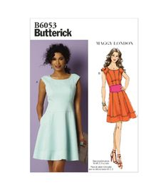 Buy Butterick Women's Dress Sewing Pattern, 6053 from our Sewing Patterns range at John Lewis & Partners. Butterick Sewing Patterns, Plus Size Summer Fashion, Sewing Clothes, Dress Sewing, Sew Dress, Fashion Catalogue, Miss Dress, Dress Patterns, Vogue Patterns