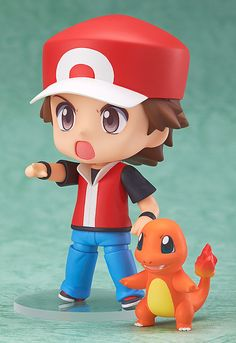Nendoroid Pokemon Series - Red and Charmander. Nendoroid makes high quality products, but they're upper mid range. Definitely pricey for such a small item. Pokemon Bulbasaur, Pokemon Red, Pokemon Trainer Red, Otaku, Chibi Anime, Good Smile, Designer Toys, Toys Photography, Anime Characters