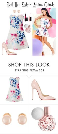 """Steal Her Style~ Ariana Grande"" by guest114 ❤ liked on Polyvore featuring Lipsy, Christian Louboutin and Kenneth Jay Lane"