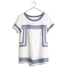linen folktale blouse / madewell