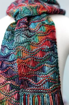 drop stitch scarf, must learn