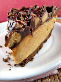Peanut Butter Cup Pie ~ Oh my!