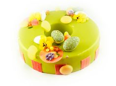 Easter entremet moussecake lemon, vanilla, passion / pääsiäinen moussekakku sitruuna, passion, vanilja