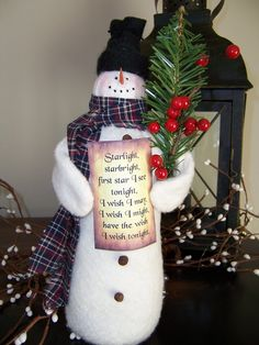 Wilbur the Wishing Snowman by CozyExpressions on Etsy, $12.00