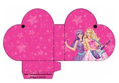 Barbie Princesa e a Pop Star Barbie Rock Star, Diy Crafts Store, Barbie Party Decorations, Barbie Images, Birthday Template, Barbie Cake, Barbie Birthday, Holly Hobbie, Party In A Box