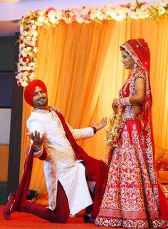 Harbhajan Singh Geeta Basra Wedding Pictures