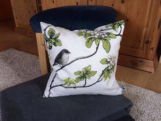 Kissenbezug 40x40 weiß creme grau Vögel modern schlicht Kissenhülle ohne Kissen | eBay