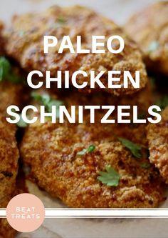 Paleo Chicken Schnitzels  | Dinner Recipes | Allergies Friendly Recipe | Diary Free | Gluten Free | Refined Sugar Free | Soy Free