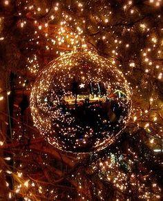 Brown glitter ornament