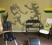 Football Wall Mural-boys football theme bedroom-football wall decorations, sports themed bedroom for boys Football Bedroom, Football Rooms, Football Wall, Football Decor, Football Stuff, Football Players, Sports Wall, Kids Sports, Sports Bedding