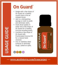 Love On Guard! It has so many uses, and smells great! http://www.mydoterra.com/lynncarper