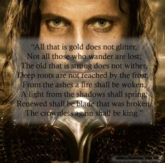 - The Riddle of Strider, The Fellowship of the Ring, Book I, II, Chapters: Strider, The Council of Elrond