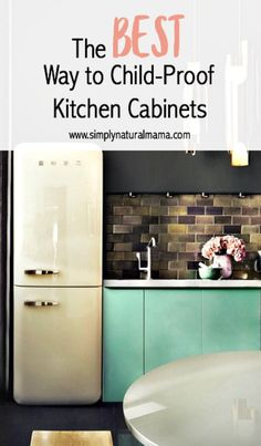 Here is some really great advice for new parents. This truly is the BEST way to child-proof kitchen cabinets. via @simplynaturalma