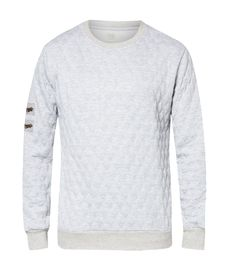 Keep warm in this W-Quilted Sweatshirt a collection by 24:01. Made from cotton with quilted texture and a zips detail on the sleeves, perfect for cold weather, you can pair this cool sweater with jeans or a chino for a casual style. http://www.zocko.com/z/JIqok