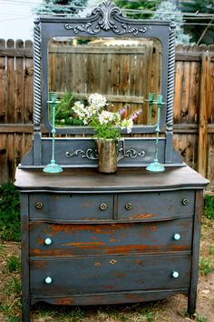 This piece looks amazing...From Miss mustard seeds milk paint.